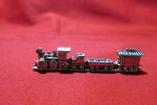 Pewter Steam Engine Railroad Train 2 Inches Long