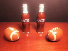 Cute Ceramic Coca-Cola and Football Salt and Pepper Shaker Sets Great for Party