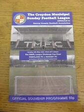 05/05/2013 Croydon Municipal Sunday League Cup Final: Portland v Nugget [At Toot