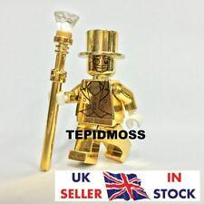 LEGO *CUSTOM* MR GOLD COLLECTIBLE MINI FIGURE SERIES 10 MACHINE PRINT IN UK!