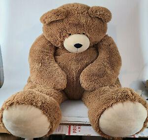 "Authentic 4' ft Foot Vermont Teddy Bear Co. ""Big Hunka Love Bear"" Used"