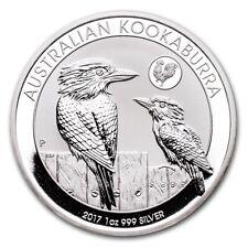 Perth Mint Australia $1 Kookaburra Rooster Privy 2017 1 oz .999 Silver Coin