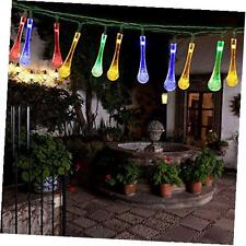 solar powered string lights 30 led 21ft 8 modes water drop fairy christmas