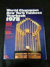 VINTAGE 1978 WORLD CHAMPION NEW YORK YANKEES YEARBOOK