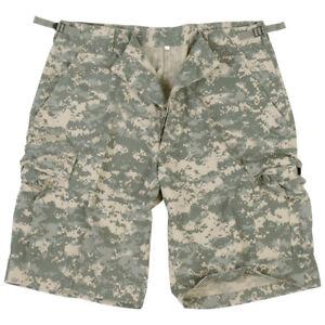 RIPSTOP US ARMY COMBAT CARGO MILITARY MENS SHORTS ACU DIGITAL CAMO : S-XXL
