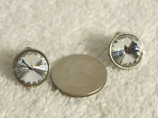 Big Rhinestones in Silver Setting Earrings