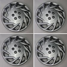 """Set of 4, 15"""" Universal Aftermarket Hubcap Covers with metal clips 118"""