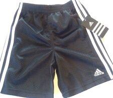 NeW nwt~BOYS size sz 4 Adidas athletic basketball mesh shorts Black white