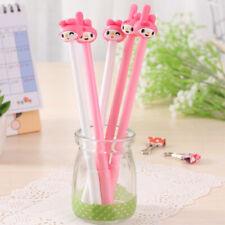 Cartoon 4pcs Pink Girl Gel Pens Cute 0.38mm Rollerball Pen Signature Student