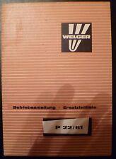 Welger Ballenschleuder P22 / 61 Anleitung + ET-Liste