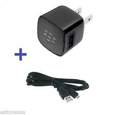 Blackberry Bold 9900 9930 9700 Wall Travel Home Charger Micro USB Data Cable OEM