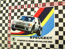 "Pts PEUGEOT TALBOT SPORT 205 WRC "" 85 autocollant gti rallye"