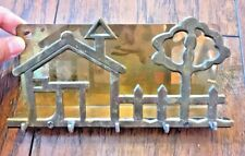 Vintage Solid Brass House Key Holder Hook Wall Key Rack Mail Organizer