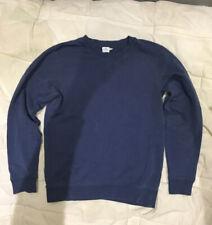 Vintage Sunspel Loopback Faded Blue Sweatshirt Small