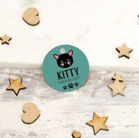 Personalised Pet Tags ID Collar Cat Dog 25mm Paw Print Custom Made