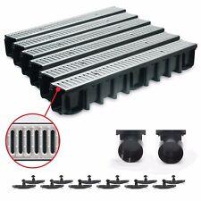 6m Entwässerungsrinne für modulares System A15 148mm, komplett Stahl verzinkt