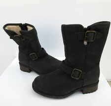 UGG Women's Chaney Ankle Leather Boots Black 1007542 Size 5