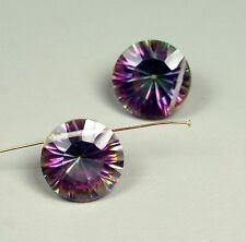 Round 13mm faceted drilled natural Mistic Topaz stones