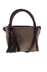 Danielle Nicole 4754 Womens Brigit Purple Mini Bucket Handbag Purse Small