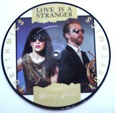 """EX/EX! les EURYTHMICS love is a stranger 7"""" VINYLE 45 picture disc"""
