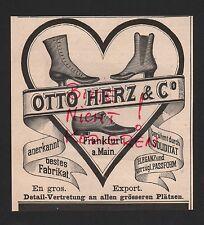 FRANKFURT/M., Werbung 1898, Otto Herz & Co. Schuhe Stiefel