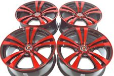 18 red Wheels Rims Accord Eclipse Fusion Camry Galant Legacy Civic 5x100 5x114.3