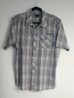 DC Men's Casual Short Sleeve Pearl Snap Button Shirt Size L