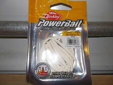 "Berkley Powerbait FLOATING 3"" trout worm white 15 count PBHFTW3-WH"