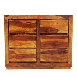 Boston Zen Contemporary Solid Wood 6 Drawers Chest Of Drawer (MADE TO ORDER)