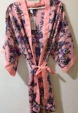 Bridal Party Cotton On Women's Floral Satin Kimono Gown Robe