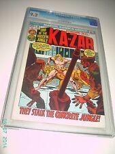 ASTONISHING TALES #15 CGC 9.2 NEAR MINT - KA-ZAR 1972 MARVEL BRONZE COMICS OWTW
