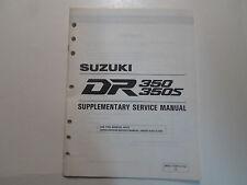 1993 Suzuki DR350 350S Supplementary Service Manual MINOR WEAR 995014301003E