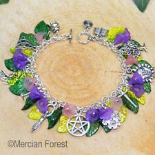 Wiccan Charm Bracelet - Foxglove- Pagan Jewellery, Wiccan, Witch, Pagan Bracelet