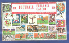 Football 100 All Different Stamp Packet Collection Thematic Sports Calcio Soccer