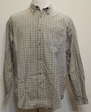 Industrial Rags Long Sleeve Button-Front White/Green Plaid Shirt XL
