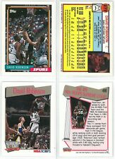 David Robinson 91-92 Hoops #496 & 92-93 Topps #277 Basketball Cards