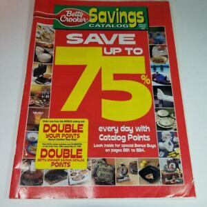 1998 Betty Crocker Savings premium catalog Vintage paper advertising ephemera