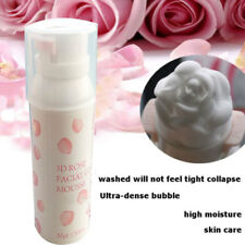 3D Rose Face Wash Foam Cleanser Whip Soap Foam Acne Blackhead Remover 150ml