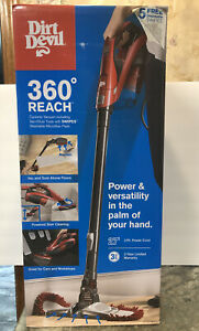 New Dirt Devil Vacuum Cleaner 360 Reach Corded Bagless Stick & Handheld Vacuum