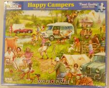 White Mountain 1000 Pc Puzzle Happy Campers # 1337