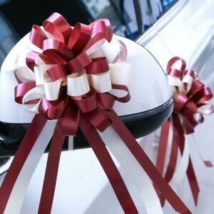 10PCS Large Pull Bow Ribbons Floristry Gift Wrapping Wedding Car Party Adornment
