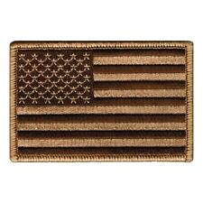 """US American Flag Patch Desert Tan tactical - 3""""x2"""" Inch Hook and Loop backing"""