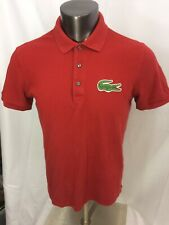 Lacoste GIANT Croc Red Golf Polo Size 5