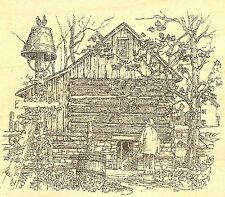 FALL BARN FARM COUNTRY Wood Mounted Rubber Stamp IMPRESSION OBSESSION J2518 NEW