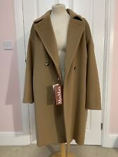 MAX MARA STUDIO Camel Virgin Wool Coat NEW WITH TAGS UK 10