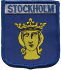 Sweden Stockholm Coat of Arms Embroidered Patch