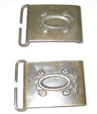 "Naval Seamen Belt Clip Buckle 1.5 x 2"" Front Gridiron Field Anchor On Back Brass"