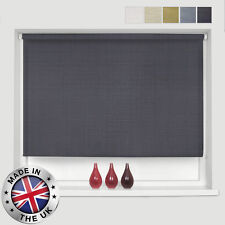 * MADE TO MEASURE * 5 COLOURS * LINEN MATERIAL ROLLER BLINDS - *EASY TO FIT*