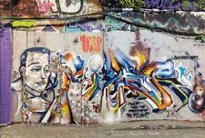 6x4' Retro Graffiti Wall Photography Background Vintage Portrait Backdrops Props