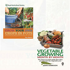 RHS Grow Your Own and Vegetable Growing Month-by-Month 2 Books Collection Set NE